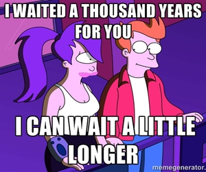 fry, futurama, and Leela image