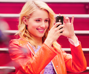 glee, dianna agron, and happy image