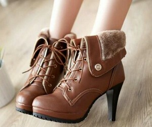 booties, brown, and cold weather image