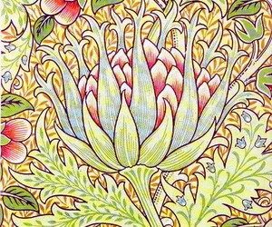 artichoke, william morris, and arts and crafts movement image