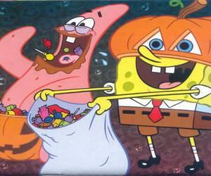 Halloween, spongebob, and patrick image