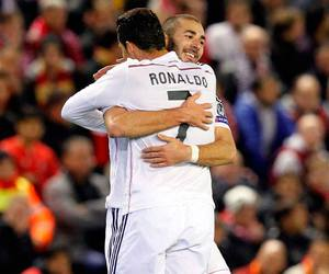 cristiano ronaldo, karim benzema, and real madrid image