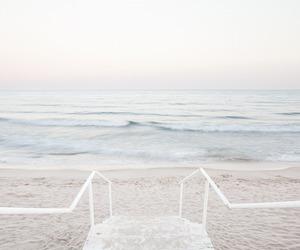 beach, pastel, and sea image