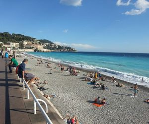 beach, france, and nice image