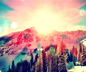 snow, beautiful, and snowboard image