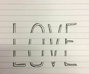 love, drawing, and hipster image
