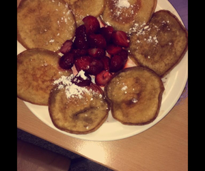 american, food, and panncakes image
