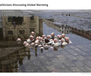 global warming, sculpture, and politicians image