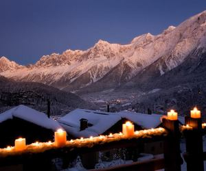 mountains, snow, and candle image