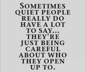 quote, quiet, and quiet people image