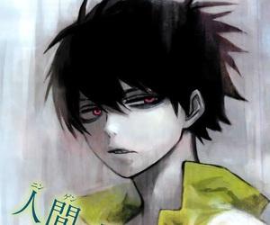 dark, red eyes, and staz image