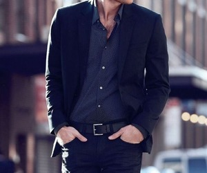 men, style, and black image
