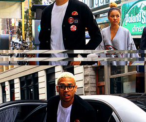 blonde, chris brown, and funny image