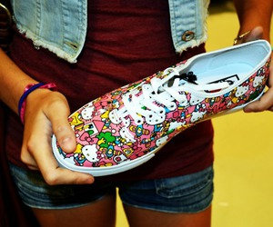 hello kitty, shoe, and shoes image