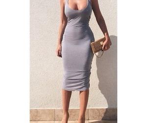bag, high heels, and dress image