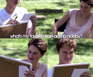 interview, Shailene Woodley, and ansel elgort image