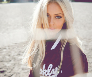 blonde, girl, and hair image