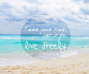 beach, free, and life image