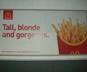 funny, blonde, and food image