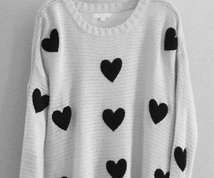 hearts, heart, and black image