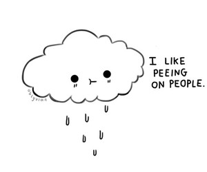 clouds, funny, and rain image