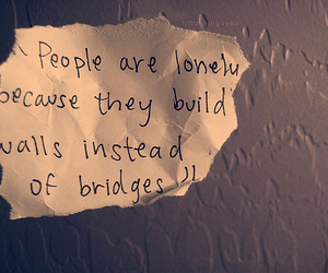 quote, lonely, and wall image
