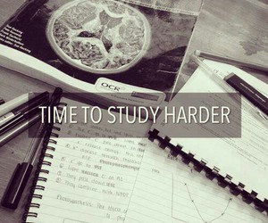 study, school, and hard image