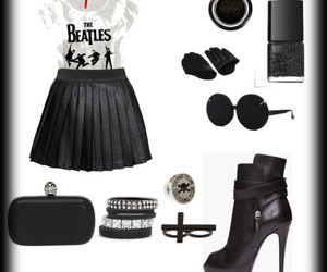 black, glasses, and Polyvore image