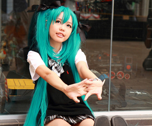 cosplay, hatsune miku, and miku image