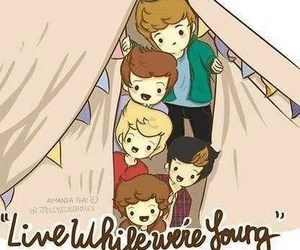 one direction, live while we're young, and lwwy image