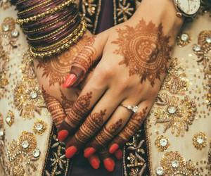 henna, bride, and wedding image