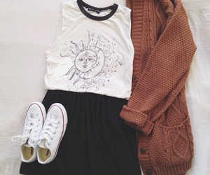 clothe, converse, and shirts image