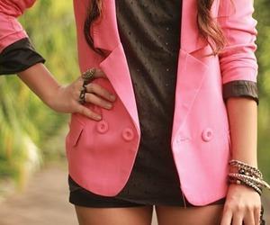 fashion, pink, and blazer image