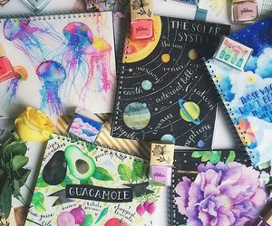 art, notebook, and book image
