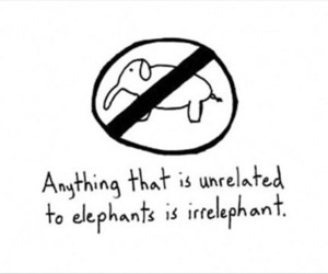 elephant, irrelephant, and funny image