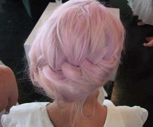 hair, pelo, and pink image