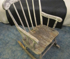 Halloween, rocking chair, and haunted image