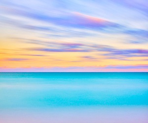 sky, sea, and pastel image