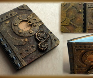 notebook and steampunk image