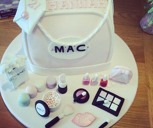 mac, cake, and makeup image