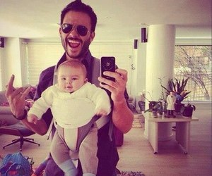 baby, dad, and father image