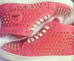 shoes, pink, and spikes image
