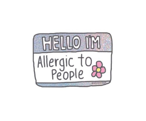 allergic, people, and overlay image