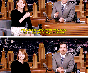 emma stone, jimmy fallon, and quotes image