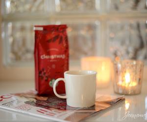 coffee, candle, and christmas image