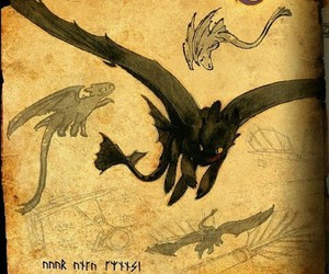 dibujo, dragon, and toothless image