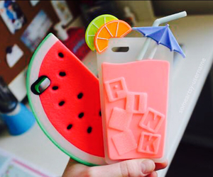 iphone case, cocktail case, and watermelon case image