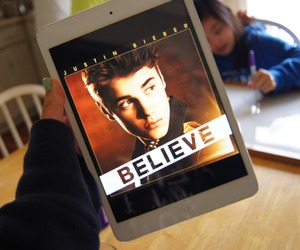 justin bieber, believe, and ipad image