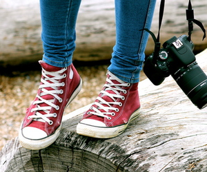 converse, camera, and photography image