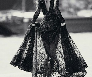 dress, black and white, and fashion image